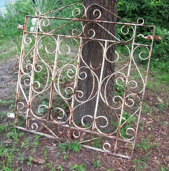 Items Similar To Vintage Wrought Iron Garden Gate Patio