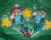 24 Mario Bros. Chocolate Lollipop Favor