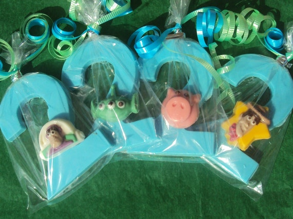 12 Toy Story Assortment with Number or Letter Chocolate Favor
