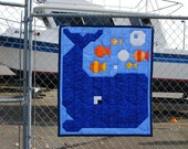 Whale Quilt Pattern in Wall, Crib, and Lap sizes - PDF