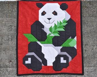 Panda Quilt 3 Sizes in 1 Pattern - PDF