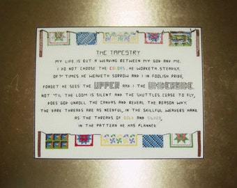 Tapestry Poem Cross Stitch Pattern - PDF