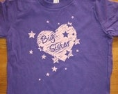 Big Sister Shirt - 8 Colors Available - New Baby Girls Top - Big Sister Present - Kids T shirt Sizes 2T, 4T, 6, 8, 10, 12 - Gift Friendly