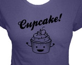 Cupcake Shirt - 4 Colors Available - Organic Bamboo and Cotton Womens Shirt - Gift Friendly