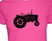 Tractor / Farm Shirt - Womens Shirt - 3 Colors Available - Womens Cotton Shirt - Gift Friendly