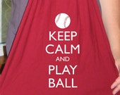 Baseball - Keep Calm and Play Ball - Mens Scarf or Womens Scarf - Keep Calm and Carry On Jersey Scarf - 2 Colors Available - Gift Friendly