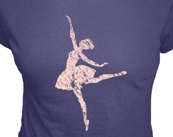 Dance Shirt - Ballerina T Shirt - 4 Colors Available - Ballerina - Organic Bamboo and Cotton Womens Shirt - Gift Friendly