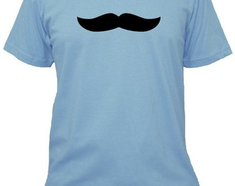 Mustache Shirt / Moustache Shirt - Mustache - 5 Colors Available - Mens Cotton Shirt - Gift Friendly