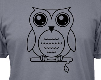 Owl Shirt - Oscar the Owl T Shirt - 5 Colors Available - Mens Cotton Shirt - Gift Friendly