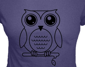 Owl Shirt - Olivia the Owl T Shirt - 4 Colors Available - Organic Bamboo and Cotton Womens Shirt - Gift Friendly