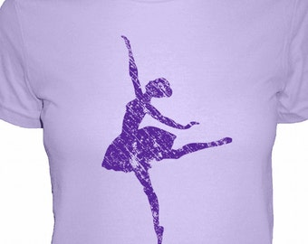 Dance Shirt - 4 Colors Available - Ballerina - Womens Cotton T Shirt - Gift Friendly