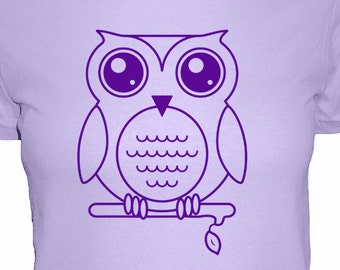 Owl Shirt - Olivia the Owl Womens Cotton T Shirt - 4 Colors Available