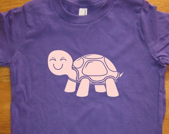 Turtle Shirt - Kids Shirt - 6 Colors Available - Sizes 2T, 4T, 6, 8, 10, 12 - Gift Friendly