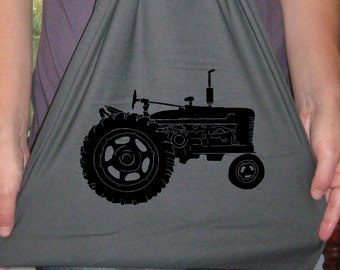 Womens Scarf or Mens Scarf - Tractor - Jersey Cotton Scarf - 2 Colors Available - Gift Friendly