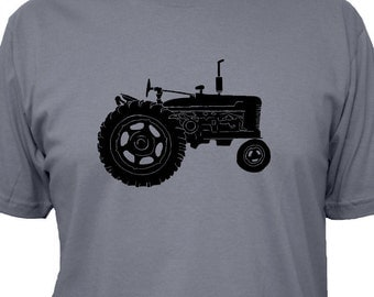 Farming Shirt - Tractor Mens Shirt - 3 Colors Available - Mens Cotton TShirt - Gift Friendly
