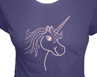 Womens Shirt - Unicorn Shirt -  4 Colors - Womens Organic Bamboo and Cotton T Shirt - Gift Friendly