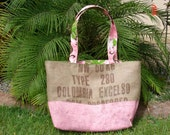 Pink Painted XL Coffee Tote