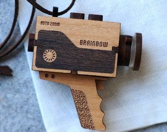 Super 8 Video Camera Necklace