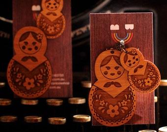 Matryoshka Doll Necklace / Brooch