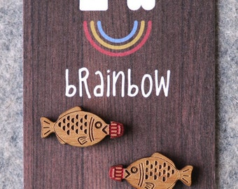 Wooden Fish Soy Sauce Earrings