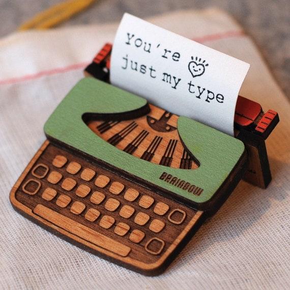 Typewriter Brooch