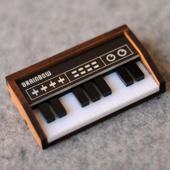 Wooden Keyboard Brooch / Necklace