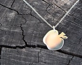 apple necklace petite apple pendant delicate sterling silver jewelry teacher gift The Big Apple