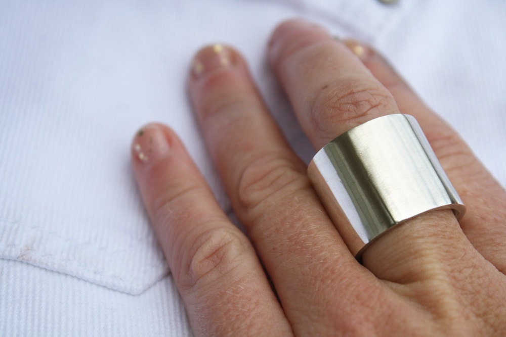Extra Wide Ring Thick Heavy Sterling Silver Jewelry 20mm