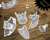 Temporary Monster Love Tattoos