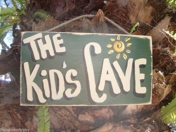 Man Cave Signs Cheap : Man cave country primitive rustic wood sign by franscountryny
