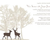 Deer Doe & Buck Tree Wedding Invitation - lizcarverdesign