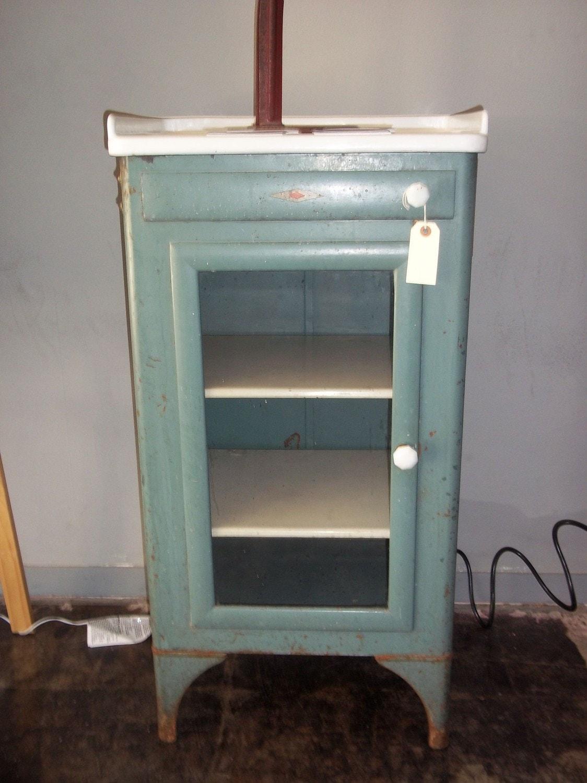 Antique Metal Dental Cabinet Medical Dental Cabinet Industrial