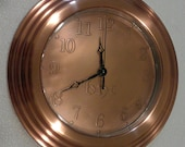 """Personalized Copper Wall clock 11"""""""