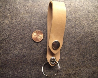 Raw Horsehide Leather Belt Fob Key Ring- Horween Leather