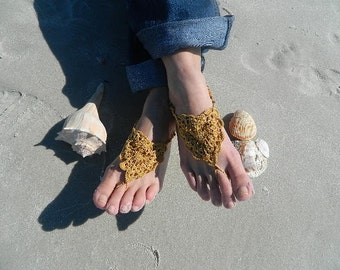 Barefoot Sandals, Beach Sandals, Sexy Sandals, Foot Jewelry, Beaded Foot Thong, Beautiful Bare Feet, Vintage Style Sandals