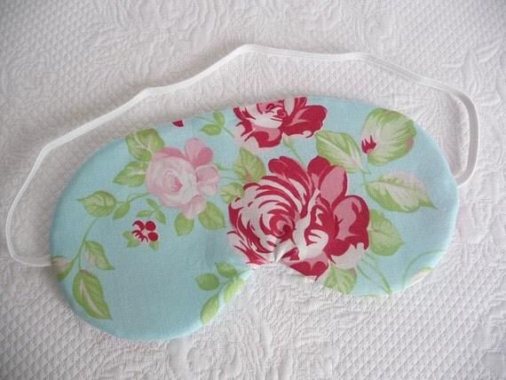 Sleep mask. Eye mask. Blue China Rose
