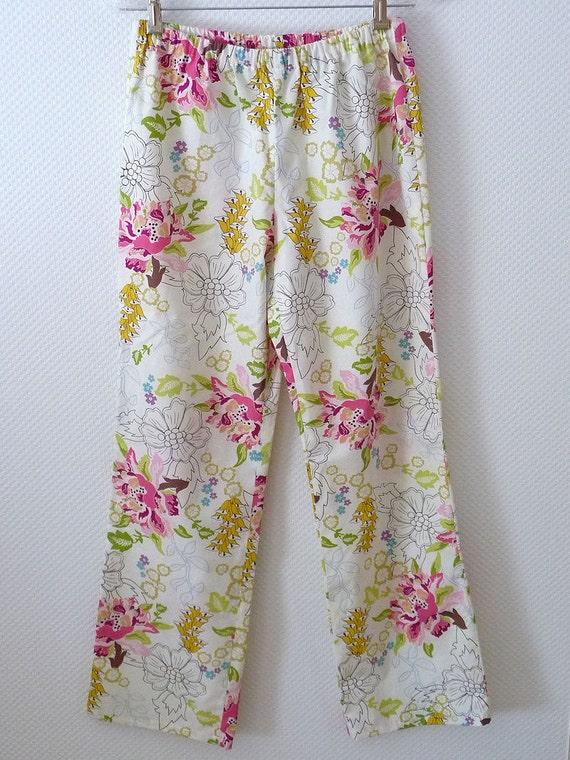 Paradise Pajama Pants. Size Large. Floral Women's Pajama Pants. Premium Cotton