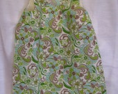 Green and Brown Paisley A-Line Dress Size 2T