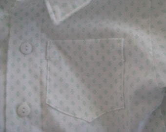 Boys Button Down Shirt Size 2T Vintage Material