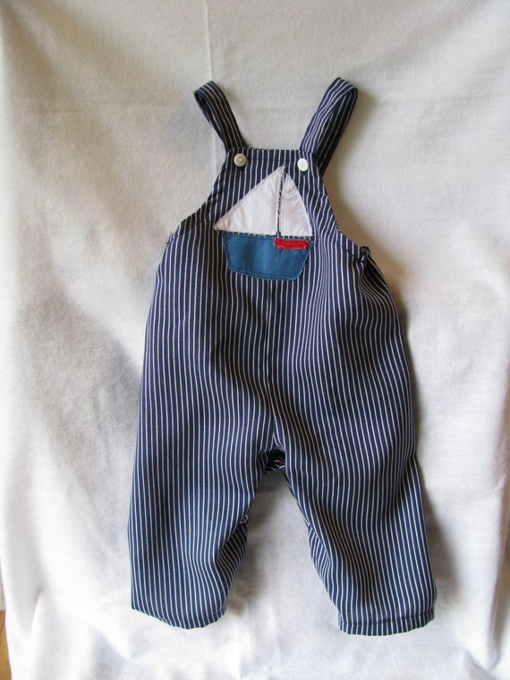 Sailboat Overalls Size 3-6 Months