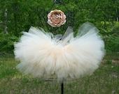 Creamsicle Vintage Inspired Newborn Toddler Sewn Tutu Super Fluffy Tutu