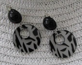 Retro Zebra Print Earrings