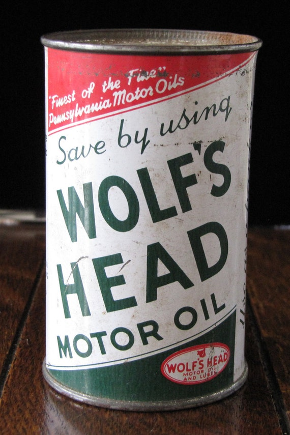 Vintage Advertising Wolfs Head Motor Oil Coin Bank