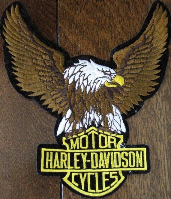 """Vintage """"Harley Davidson"""" Patch Large"""