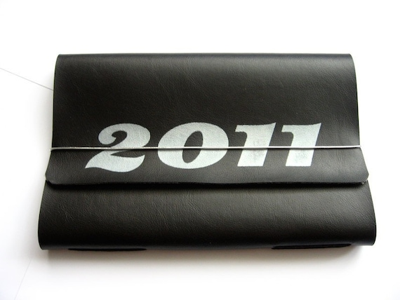 Get Organized - 2011 Planner - BLACK and SILVER - more colors available