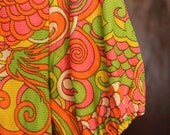 1970s Psychedelic Dress
