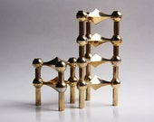 Reserved Mid Century Gold-Plated Candle Holders - Nagel (set of 5)