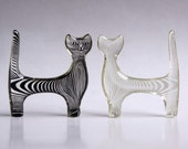 Reserved Abraham Palatnik Set of Two Lucite Cat Figurines - 60s