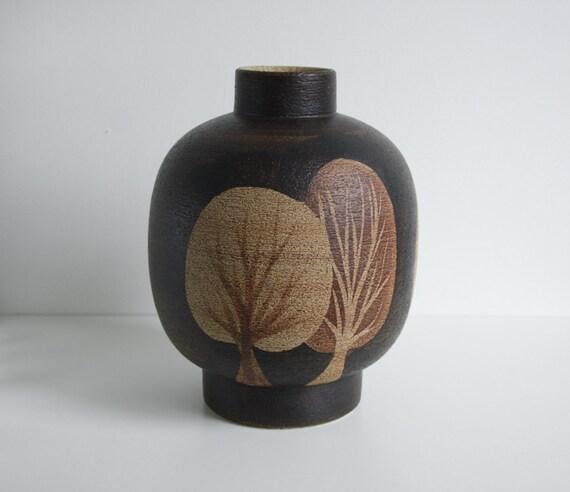 Earthy Vase 'Autumn Trees' - Sgrafo