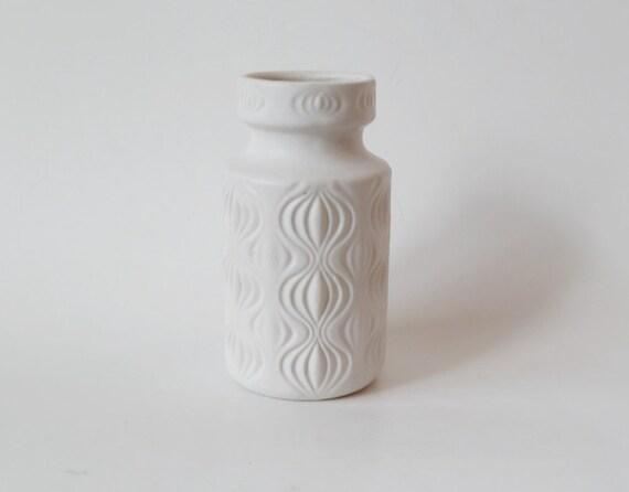 White West German 'Onion' Vase - Scheurich